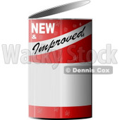 NEW & Improved Can of... Clipart © Dennis Cox #4275