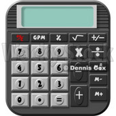 Standard Electronic Calculator Clipart © Dennis Cox #4280