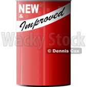 NEW & Improved Blank Can of... Clip Art © Dennis Cox #4283