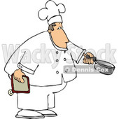Male Chef Holding a Cooking Pot Clipart © Dennis Cox #4297