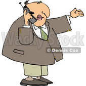 Businessman Talking On a Cellphone Clipart © Dennis Cox #4309
