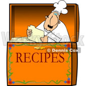Food Recipe Box Clipart © Dennis Cox #4312
