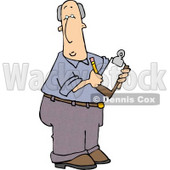 Male Manager Taking Notes with a Pencil and Clipboard Clipart © djart #4318
