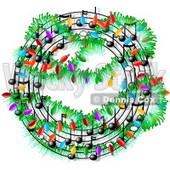 Christmas Music Symbols Decorated with Lights Clipart © djart #4326