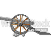 Civil War Cannon and Artillery Balls Clipart © djart #4327