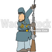 Civil War Soldier Loading His Rifle Clipart © Dennis Cox #4329