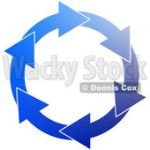 Blue Environmental Circle of Arrows Clipart © Dennis Cox #4330