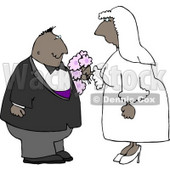 Ethnic Couple Getting Married Clipart © Dennis Cox #4333
