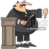 Royalty-Free (RF) Clipart Illustration of a Preacher Discussing Sins And Going To Hell © Dennis Cox #433479