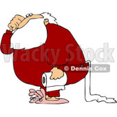 Royalty-Free (RF) Clipart Illustration of Santa Carrying A Roll Of Toilet Paper © Dennis Cox #433482