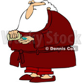 Royalty-Free (RF) Clipart Illustration of Santa Taking Pills © Dennis Cox #433483