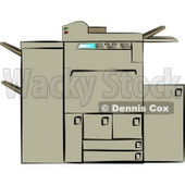 Photocopying Machine Clipart © Dennis Cox #4335