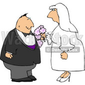 Man and Woman Getting Married to Each Other Clipart © Dennis Cox #4338