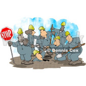 Construction Crew Clipart © Dennis Cox #4341
