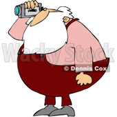 Royalty-Free (RF) Clipart Illustration of Santa Operating A Video Camera © djart #434245