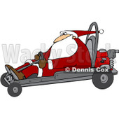 Royalty-Free (RF) Clipart Illustration of Santa Operating A Go Kart © djart #434251