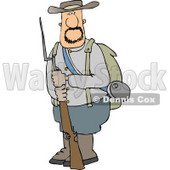 Confederate Army Soldier Holding a Rifle with a Bayonet Clipart © Dennis Cox #4351