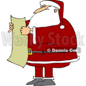 Royalty-Free (RF) Clipart Illustration of Santa Reading a List © djart #436089