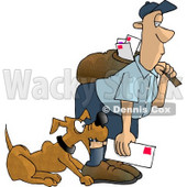 Dog Attacks On Humans Clipart © djart #4368