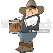 Cowboy Farmer Carrying an Empty Bucket Clipart © Dennis Cox #4393