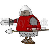 African American Roman Soldier Armed with a Spear and Sword Clipart © Dennis Cox #4407