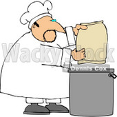 Male Bake Making Bread Clipart © Dennis Cox #4410
