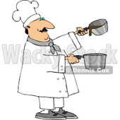 Professional Male Chef Making Gravy Clipart © djart #4413