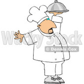 Professional Male Chef Carrying a Covered Serving Plate Clipart © djart #4423