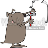Royalty-Free (RF) Clip Art Illustration of a Dog Nailing Up A Sign © djart #442578