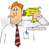 Royalty-Free (RF) Clip Art Illustration of a Businessman Holding A Taser To His Head © djart #442591