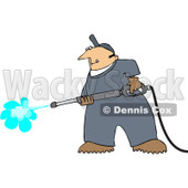 Royalty-Free (RF) Clip Art Illustration of a Pressure Washer Man © Dennis Cox #442598