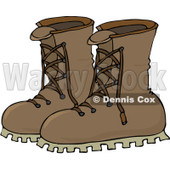 Royalty-Free (RF) Clip Art Illustration of a Pair Of Leather Boots © Dennis Cox #442601