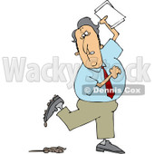 Royalty-Free (RF) Clip Art Illustration of a Businessman Stepping In Dog Poop © Dennis Cox #442604