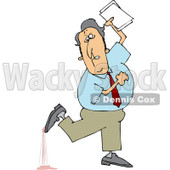 Royalty-Free (RF) Clip Art Illustration of a Businessman Stepping In Gum © djart #442614