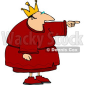 King Pointing Finger at Something Clipart © Dennis Cox #4427