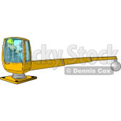 Male Construction Worker Operating a Heavy Equipment Crane Clipart © Dennis Cox #4435