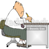 Businessman Working at a Desk Clipart © djart #4467