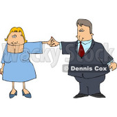 Business Couple Dancing Together Clipart © djart #4468