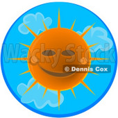 Happy Sunny Summer Day Clipart © Dennis Cox #4469