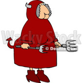 Female Devil Holding Fork Pokers Clipart © djart #4476