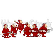 Group of Devils Clipart © Dennis Cox #4480