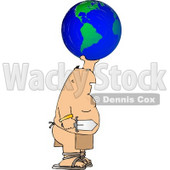Warrior Holding Globe and Sword Clipart © Dennis Cox #4486