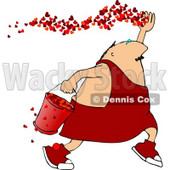 Valentine's Day Man Spreading the Love Clipart © Dennis Cox #4489