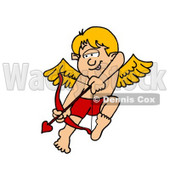Valentine Cupid Boy Shooting Love Arrow from Bow Clipart © djart #4493