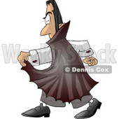 Man Wearing a Halloween Dracula Costume Clipart © djart #4494