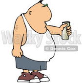 Man Holding Beer Can Clipart © Dennis Cox #4500