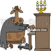 Cow Pianist Playing a Piano Clipart © Dennis Cox #4511