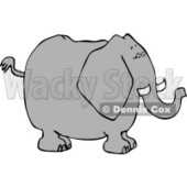 Big Elephant with Tusks Clipart © Dennis Cox #4553