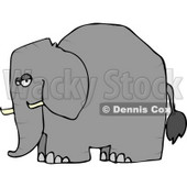 Elephant with Tusks Clipart © Dennis Cox #4556