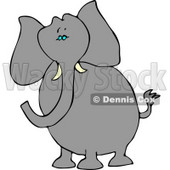 Alert Elephant with Tusks Clipart © Dennis Cox #4560